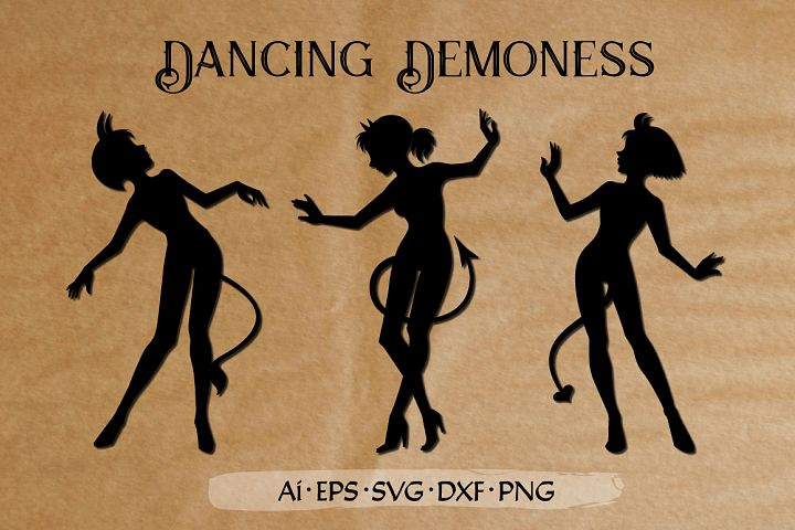 Dancing Demoness cut files set