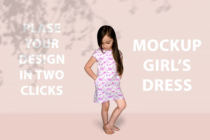 Girls Dress Mockup