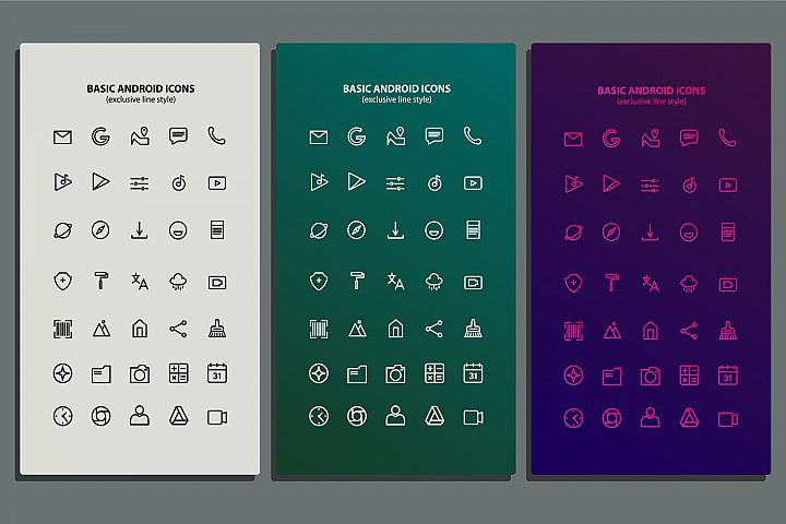 Basic Android Icon Packs