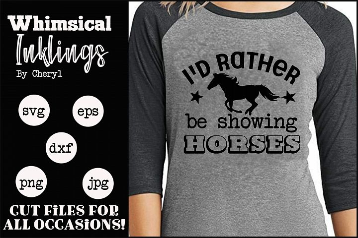 Showing Horses SVG