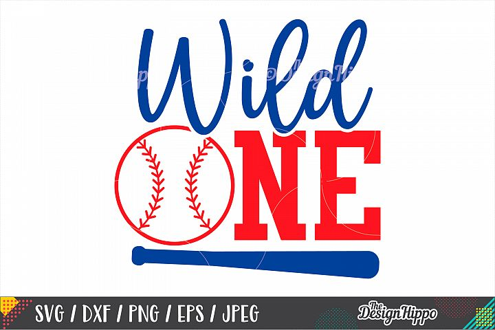 Wild One, Baseball Birthday SVG DXF PNG EPS Cutting Files