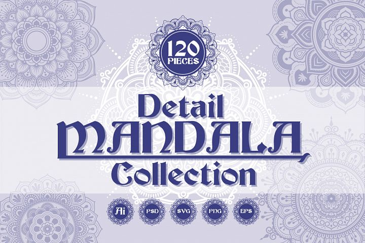 120 Detail Mandala Collection