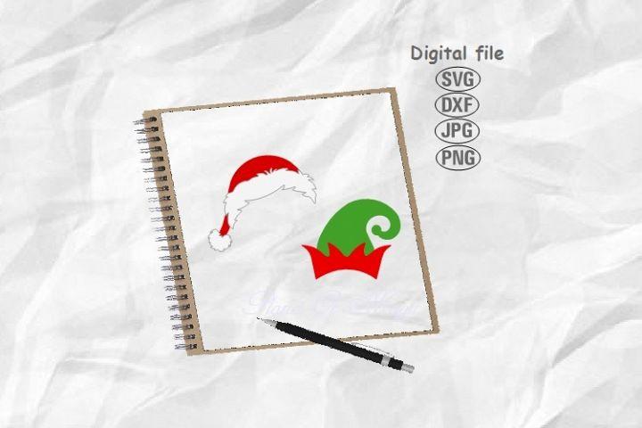 Santa Hat Svg, Elf Hat Svg, Christmas Svg, Christmas Hat Svg