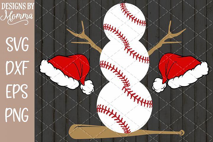 Baseball Snowman SVG