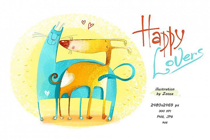 Happy Lovers - illustration