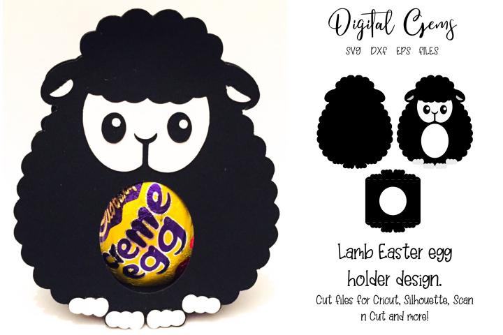 Lamb Easter egg holder design SVG / DXF / EPS files