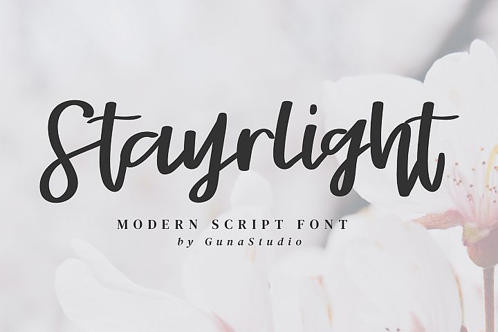 Stayrlight // Modern Script Font