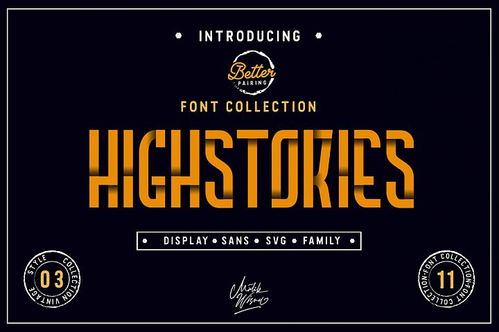 Highstories Family / Extra SVG Font
