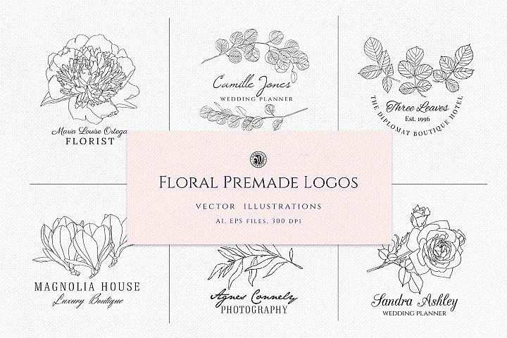 Floral Premade Logos