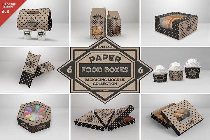 VOL.6 Food Box Packaging MockUps