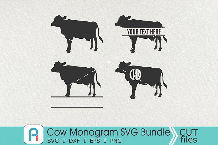 Cow Monogram Svg, Cow Svg, Cow Clip Art, Farm Monogram Svg