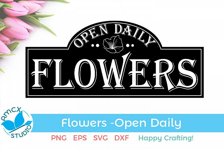 Fresh Flowers - A Cute Sign SVG Craft File