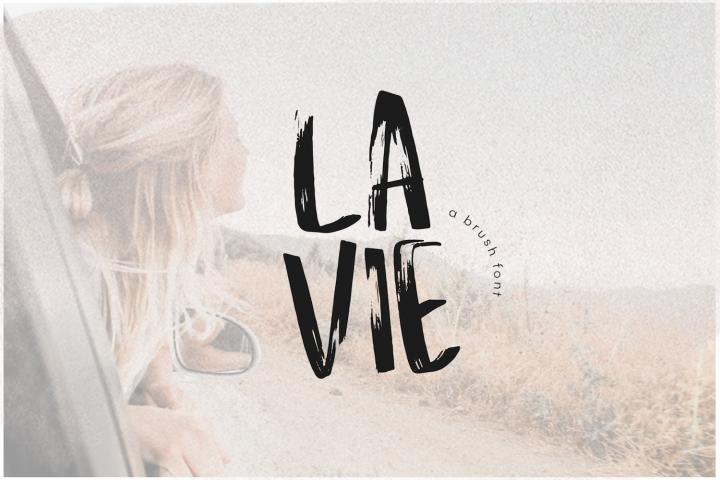 La Vie - A Handwritten Brush Font