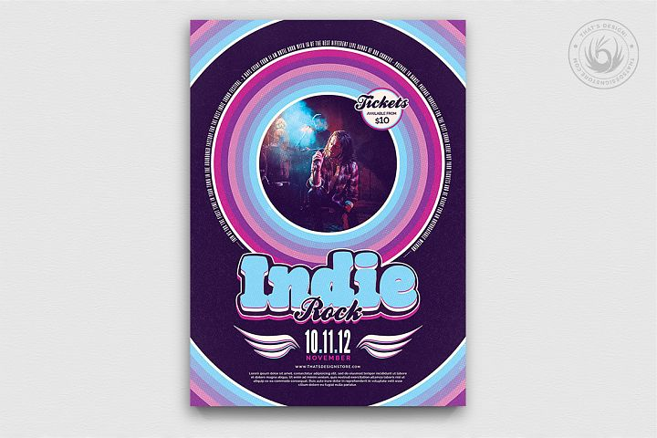 Indie Rock Flyer Template V5
