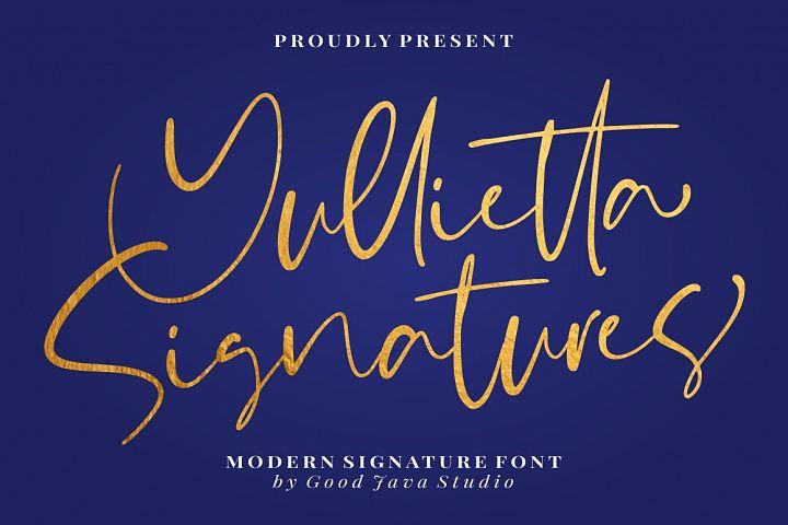 Yullietta - Modern Signature Font