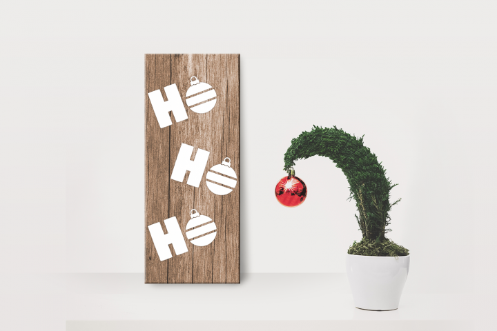 HoHoHo Christmas Ornament Porch Sign SVG File