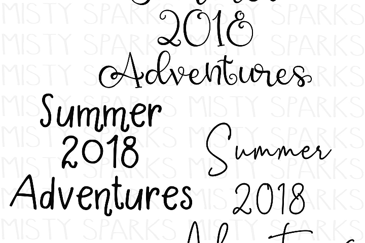 Summer 2018 Adventures - SVG DXF JPG