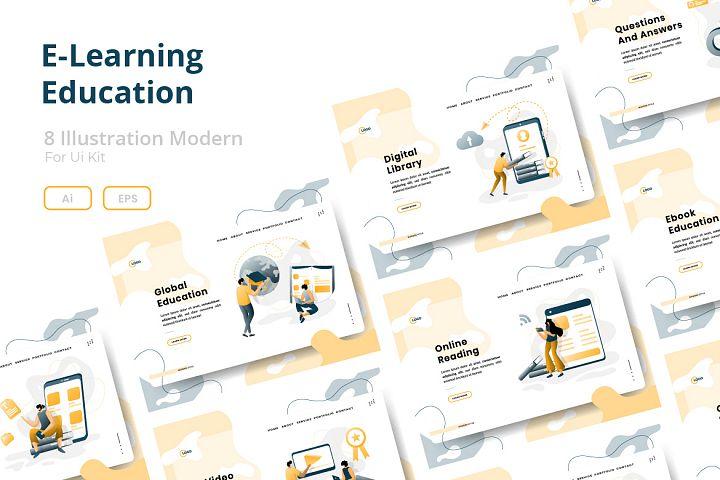 E-Learning Education Illustration