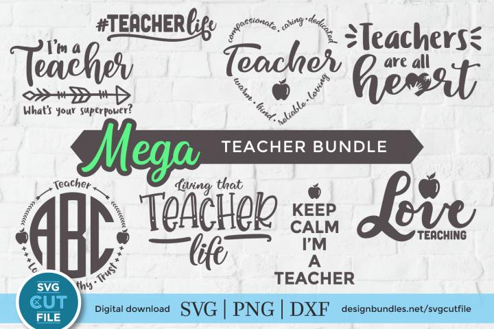Teacher svg bundle - a teacher appreciation svg & dxf pack