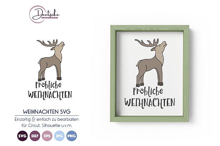 Fröhliche Weihnachten SVG | Hirsch SVG