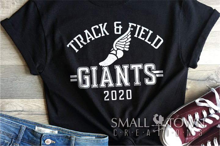 Giant, Track and Field, Winged shoe, PRINT, CUT & DESIGN