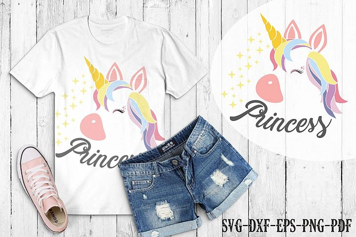 Unicorn princess svg, unicorn face svg, licorne, unicorn dxf