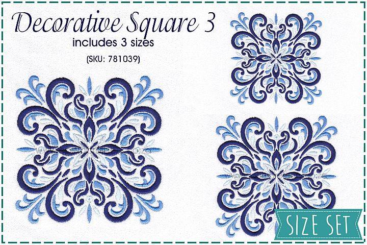 Decorative Quilt Blocks No3 Embroidery Design