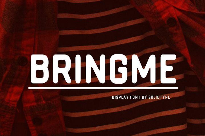 Bringme Display Font