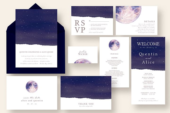 Dreamy Moon and Star Wedding Suite