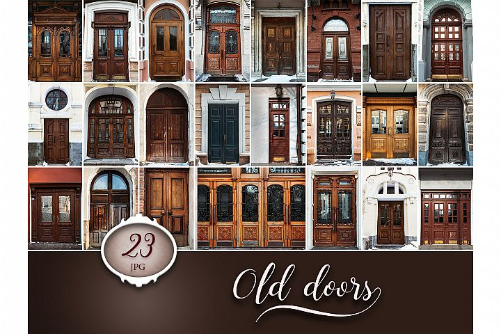 23 Old Door Digital Backgrounds