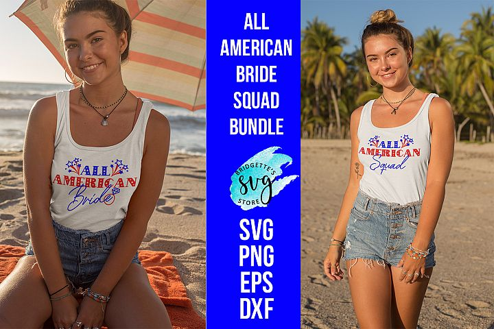 All American Bride Squad 4th of july bride wedding bundle