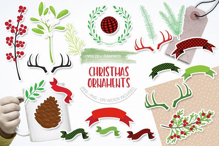 Christmas Ornament graphic and illustratiions