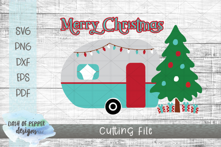 Christmas Camper SVG Cutting File
