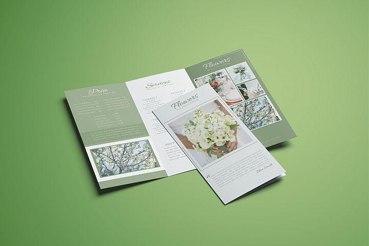 Flowers Business Tri-fold Brochure Template