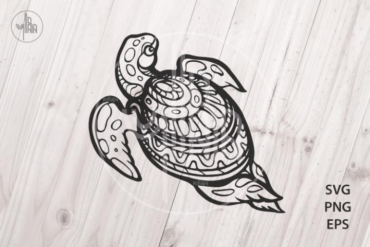 Sea Turtle, Zentangle animal, SVG, PNG, EPS vector clip art