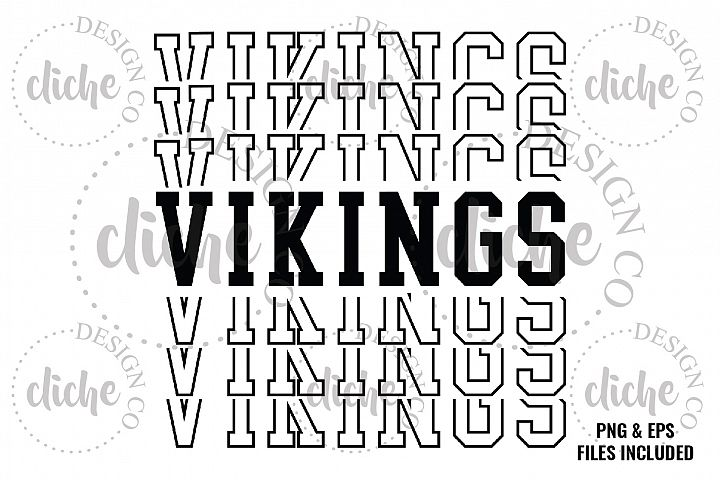 Vikings Sublimation Design & Bonus Vector Files