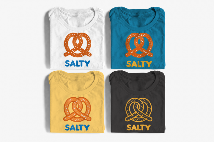 Salty Pretzel SVG File Cutting Template