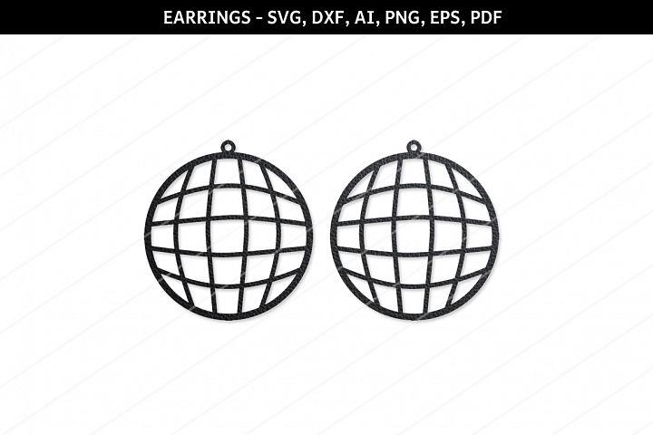 Disco ball Earrings svg,Cricut files,SVG cutting files,Globe