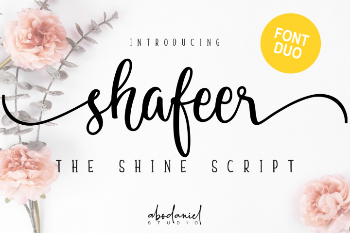 Shafeer -Beauty Font Duo-