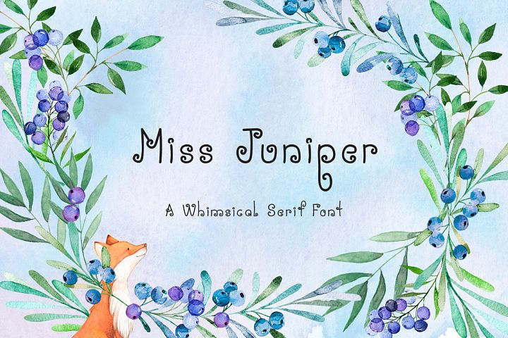 Miss Juniper - A Whimsical Font