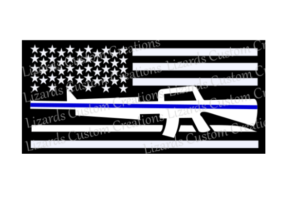 Law Enforcement/Police Blue Line Flag