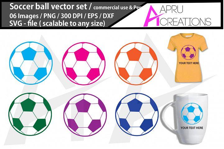 Soccer ball SVG cut file /Soccer ball silhouette / commercia