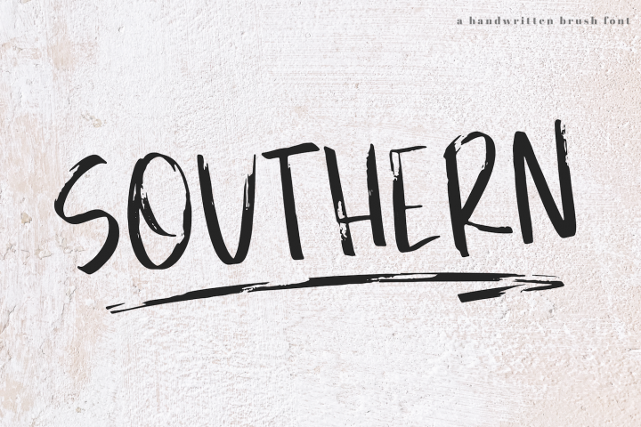 Southern - A Handwritten Brush Font