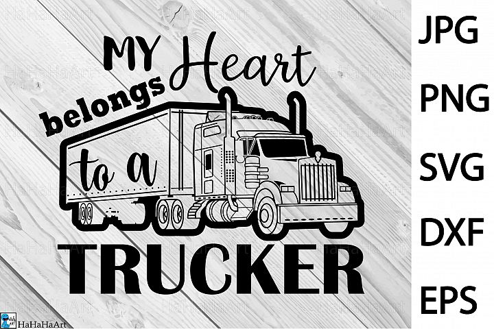 Truck Driver - Clip art / Cutting Files 397c