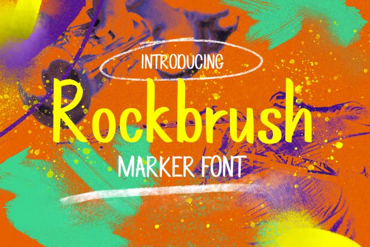 Rockbrush Marker Font