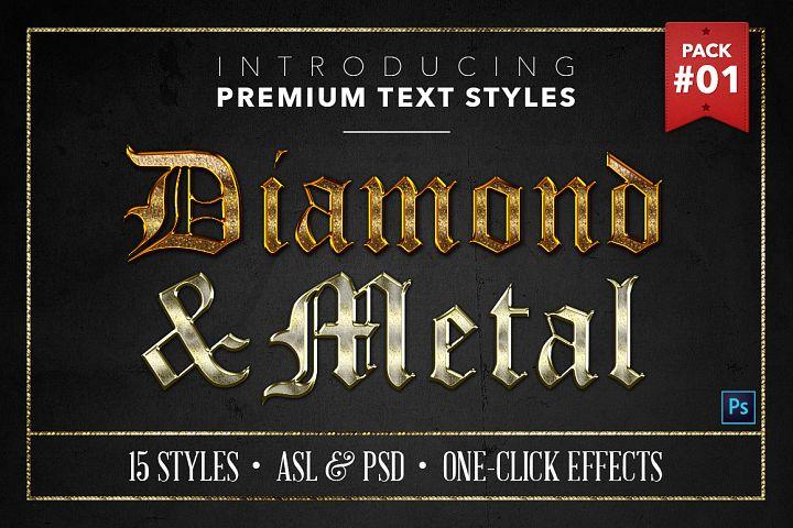 Diamond & Metal #1 - 15 Text Styles