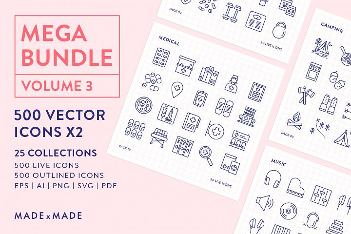 Line Icons – Mega Bundle Vol 3