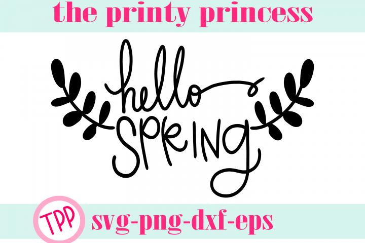 Hello Spring svg, Spring svg design file png dxf