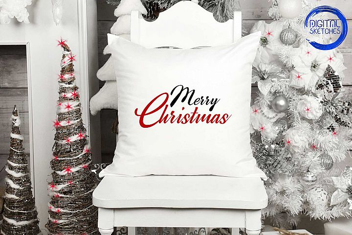 Marry Christmas Vector Graphic, Christmas SVG, Santa Clipart