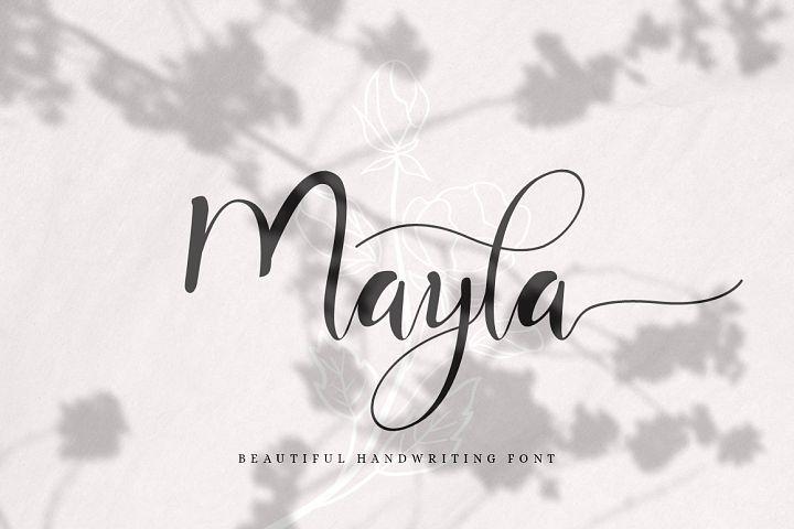 Mayla - Beautiful Handwriting Script